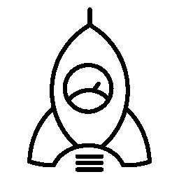 スピード メーターの形状を持つロケット無料アイコン