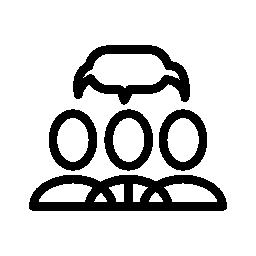 会話の無料のアイコンを持つ人々 のグループ