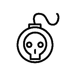 頭蓋骨概要無料アイコンと爆弾