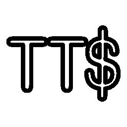 トリニダード ・ トバゴ ドル通貨シンボル無料アイコン