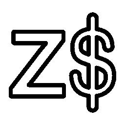 ジンバブエ ドルの無料のアイコン