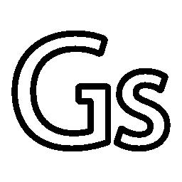パラグアイ グアラニー語通貨シンボル無料アイコン