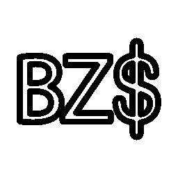 ベリーズ ドル シンボル無料アイコン