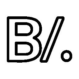 パナマ バルボア通貨シンボル無料アイコン