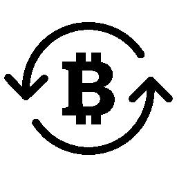 内部循環矢印 Bitcoin シンボル無料のアイコン