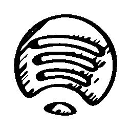 Spotify はスケッチのロゴは、バリアント無料アイコン