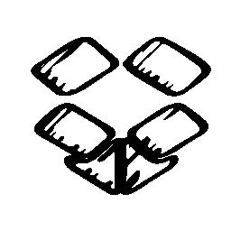 Dropbox はスケッチのロゴ、バリアント無料アイコン