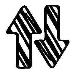 スケッチの矢印は、バリアント無料アイコン