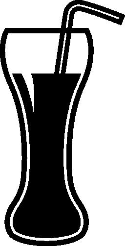 わらの無料アイコンとガラスを飲む