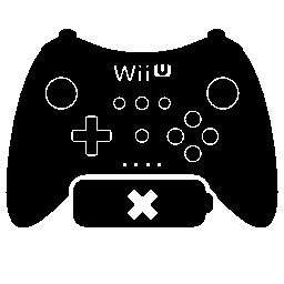 バッテリー無料アイコンなしのゲーム コントロール