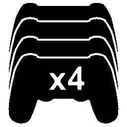 Ps ゲーム コントロールを 4 つの無料のアイコン