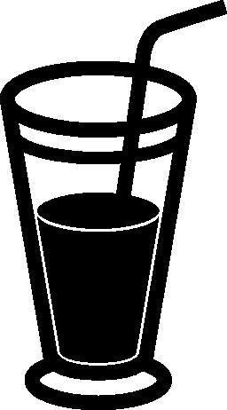 ソーダわら無料アイコンとガラスを飲む