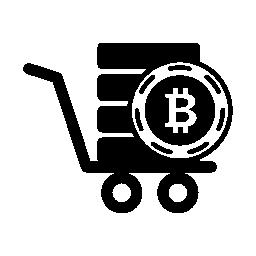 Bitcoin 手押し車無料アイコン
