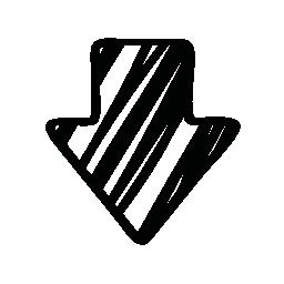 スケッチのバリアントの無料のアイコンの下の矢