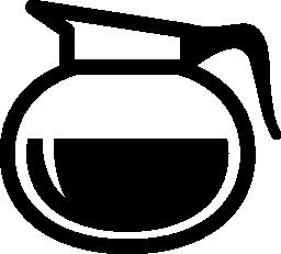 丸みを帯びた形状の無料アイコンのコーヒーの jar ファイル