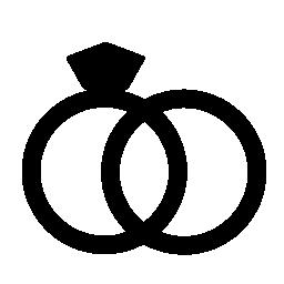 結婚指輪カップルの無料のアイコン