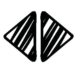 スケッチの矢印の左と右の無料アイコン