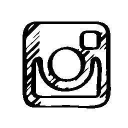Instagram のスケッチのロゴの無料アイコン