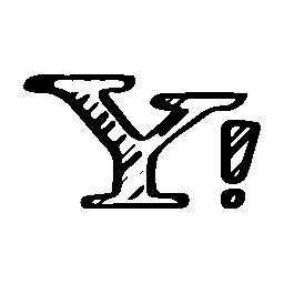 Yahoo はスケッチのロゴ、バリアント無料アイコン