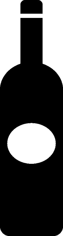 楕円形のラベル無料アイコンとボトル暗い大きな形状