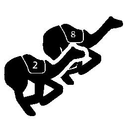 ラクダのレース無料アイコン