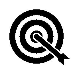 ターゲット センターの無料のアイコンの矢印の撮影