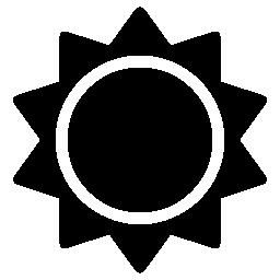 太陽黒い図形無料アイコン