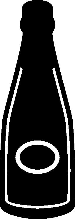 暗いワインボトル無料アイコン