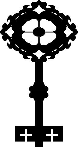 菱形の無料アイコンで花のような古いキー デザイン
