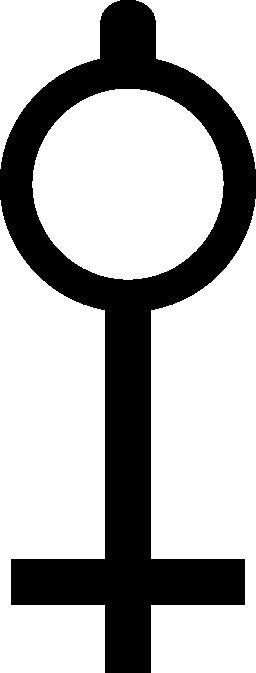 生命記号キー無料アイコンに似たキーの形