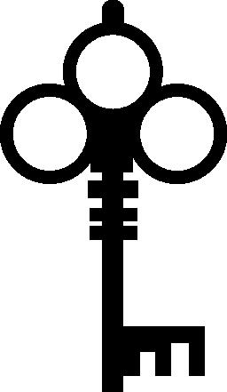 キーの複雑な形状の無料アイコン