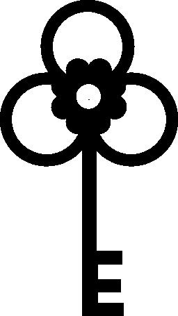 花の形の 3 つの葉の無料アイコンをキー