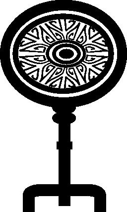 楕円形の無料アイコンの付いたキー形状