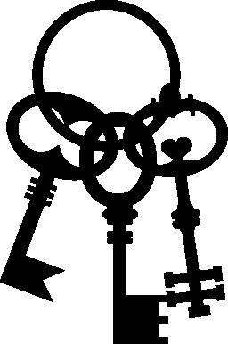 ヴィンテージ キー グループ無料アイコン