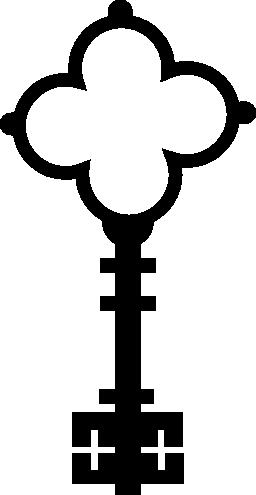 花のヴィンテージ エレガントなデザイン無料のアイコンの十字形キー