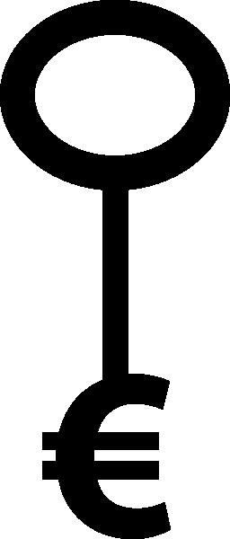 ユーロ キー形状無料アイコン