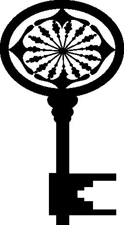楕円形の古い鍵無料のアイコン