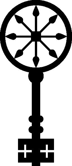 車輪円形デザイン キー無料アイコン