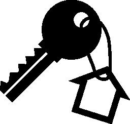 無料のアイコンをぶら下げの家の形のキー