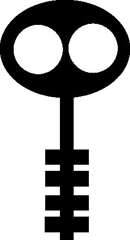 楕円形の鍵のバリアント無料アイコン