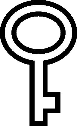 楕円形の輪郭の無料アイコンのキー