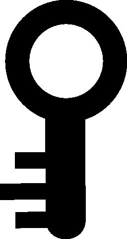 円形の小さいキー形状無料アイコン