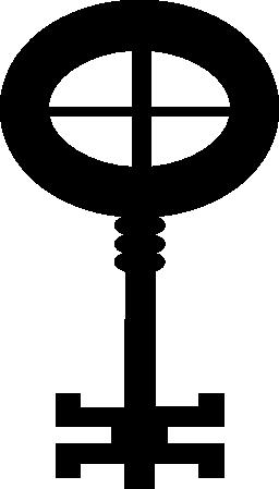 キーの総楕円形のデザインと無料のアイコン中薄いクロス