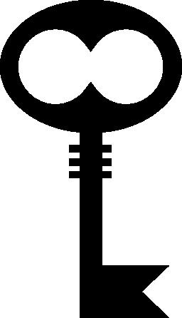 黒い図形のキー無料アイコン