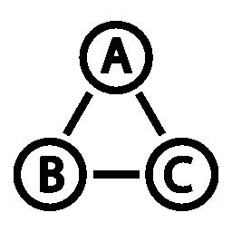 データの相互接続された無料のアイコン
