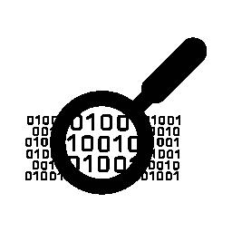 バイナリ データ検索シンボル無料アイコン