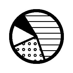 4 つのエリアの無料のアイコンを持つパイ グラフィック