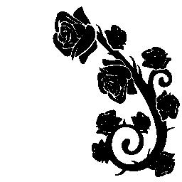 バラ飾り無料のアイコンを分岐します。