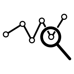 データ解析シンボル無料アイコン