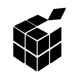 無料のアイコンを正方形のキューブ グラフィック